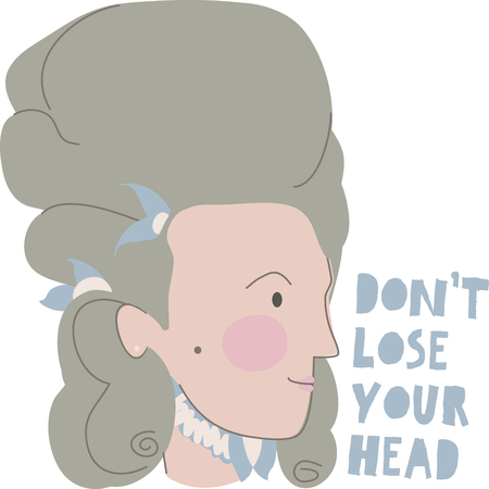 infamous: Draw inspiration from the colossal portraits of the infamous Queen of France who was responsible for the French Revolution with this design on school projects! Illustration