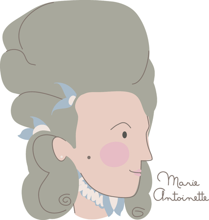 Draw inspiration from the colossal portraits of the infamous Queen of France who was responsible for the French Revolution with this design on school projects! Çizim