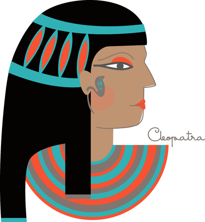 cleopatra: This timeless beauty icon will make whimsical decoration on towels, framed embroidery and more!