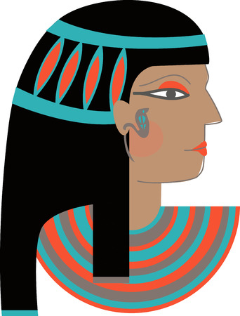 egyptian woman: This timeless beauty icon will make whimsical decoration on towels, framed embroidery and more!