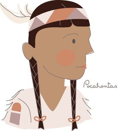 pocahontas: Wield your imagination! This fun fairy tale design will be perfect for your little girls on t-shirts, hoodies, hats, warm-ups and more!