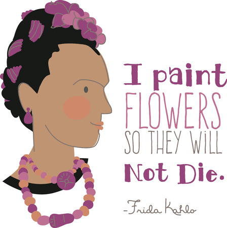 Be inspired by this Mexican self portrait artist who is still admired as a feminist icon, with this design on clothing, framed embroidery and more!