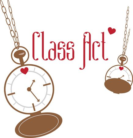 timekeeper: Accessorize to your hearts desire.  Get this fabulous yet functional design on your indoor projects and add personality to your style! Illustration