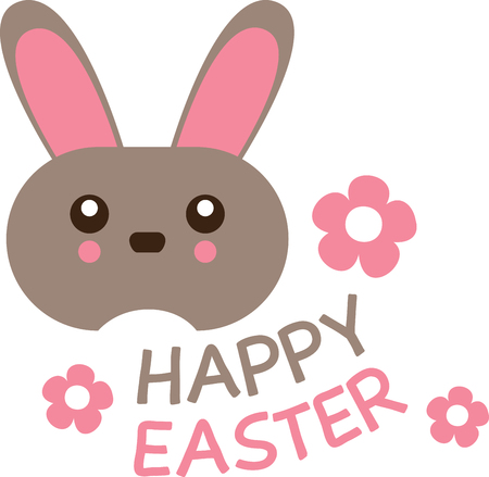 cony: Cute and fluffy bunny is ready for all the festivities! This design will be fabulous on all your Easter projects!