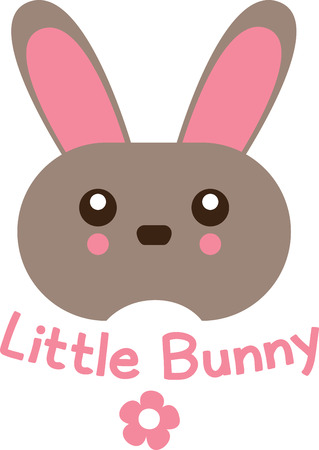 leveret: Cute and fluffy bunny is ready for all the festivities! This design will be fabulous on all your Easter projects!
