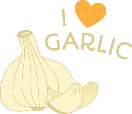 garlic clove: Wake up your taste buds!  Spark your food with this design on kitchen towels, table linen, napkins and more!