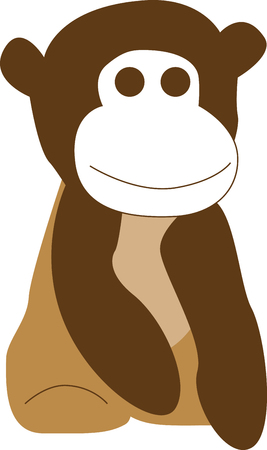 primate: This little primate is full of curiosity, adventure and mischief and ready to jump on to bodysuits, layettes, diaper covers, baby t-shirts, hats, bibs  more!