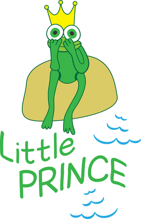 Put the cute in kids embroidery with this adorable frog motif on bodysuits, layettes, t-shirts, hats, bibs  more!