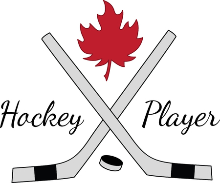 puck: Customize gear and accessories for your hockey team with this design on gear bags, fleece pullovers, t-shirts, hats and more for the next event!