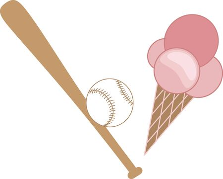 hardball: Its baseball time!  Add this design to sport bags, towels, clothing and more for your little slugger! Illustration