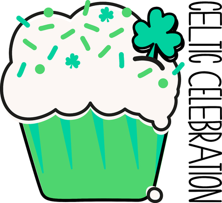 make my day: Make St. Patricks Day festive with this cupcake design on tees, totes, aprons, pillows, kitchen towels, and more!