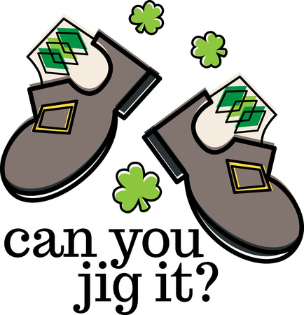 erin: Shine your dancing shoes to get ready for some fast paced Irish jig!  - Make St. Patricks Day festive with this design on tees, totes, aprons, pillows, kitchen towels, and more!