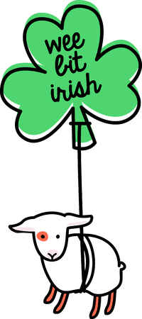 ewe: Make St. Patricks Day festive with this adorable design on tees, totes, aprons, pillows, kitchen towels and more!