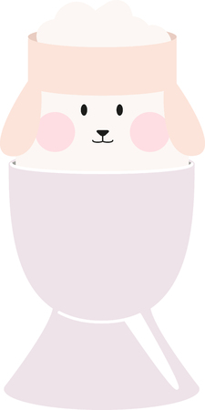 egg cups: Put the cute in Easter crafting with this design on kitchen linen, throw pillows, clothing and more!