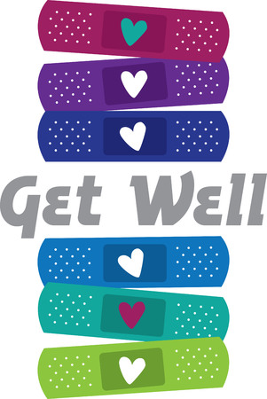 firstaid: This design is ideal for those who are accident-prone!  Cheer the wounded with this design on plain scrubs, first-aid kits, wash cloths, ice-packs and more.