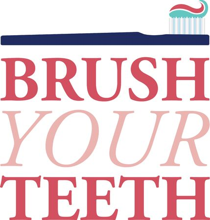A perfect design to advertise your business.  Get your patients to use brush properly with these quotes on clothing, decor and gifts that encourage great oral hygiene.