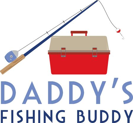tackle box: Got bite  Get hooked to this relaxing hobby with this design on gear bags, fleece pullovers, T-shirts and more for the fishing enthusiasts in your life.