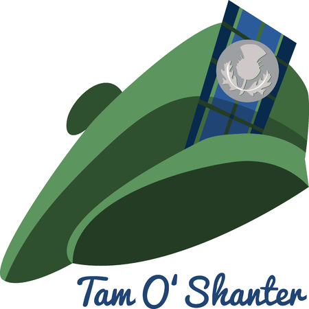 european culture: There is nothing more Scottish than a Tam O Shanter hat.  Take pride in its heritage with this Celtic embroidery design on your projects.