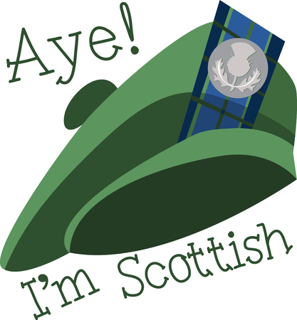 何もある Tam O オ シャンターの帽子よりもよりスコットランド。 あなたのプロジェクトにこのケルト族の刺繍デザインとその遺産に誇りを持って。  イラスト・ベクター素材