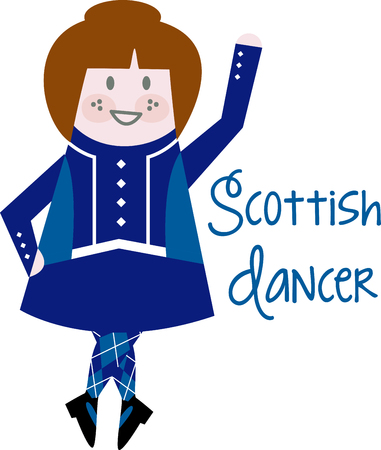 Dancing is a strong aspect of Scotlands culture.  Enjoy the wonderful and expressive art form with this design on framed embroidery, clothing and more!
