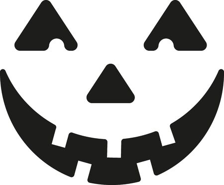 Create some simple Halloween magic with this carved pumpkin design on t-shirts, hoodies, hats, warm-ups and more for the little ones! Illustration