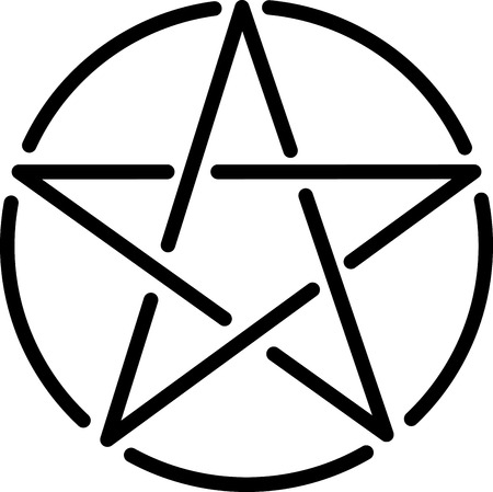 Wicca, heide, hexe, religiöse, Symbol, Logo, Symbol, Stern, Pentagramm, Form, Kreis, rund Logo