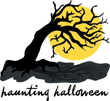 haunting: Prepare to have a hauntingly delightful Halloween with this design on t-shirts, hoodies, hats, warm-ups and more for the little ones!