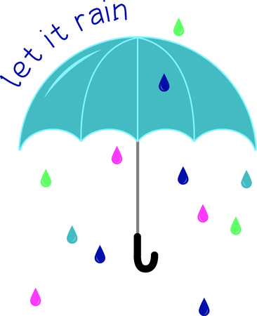 Would there be a rainbow if there was no rain?  Enjoy a walk in the rain, with this design on clothing, totes and more.