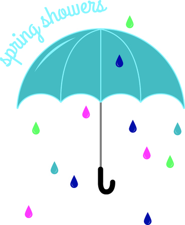 brolly: Would there be a rainbow if there was no rain?  Enjoy a walk in the rain, with this design on clothing, totes and more.
