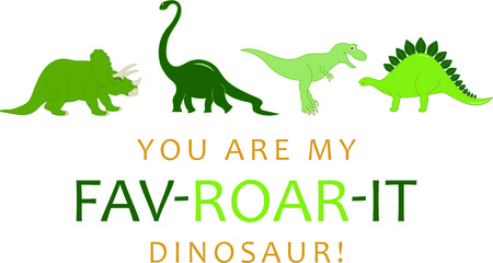 pals: The Jurassic rules in this design. Perfect for a bib, shirt or more for every dino loving kid who wants to be surrounded by his prehistoric pals.