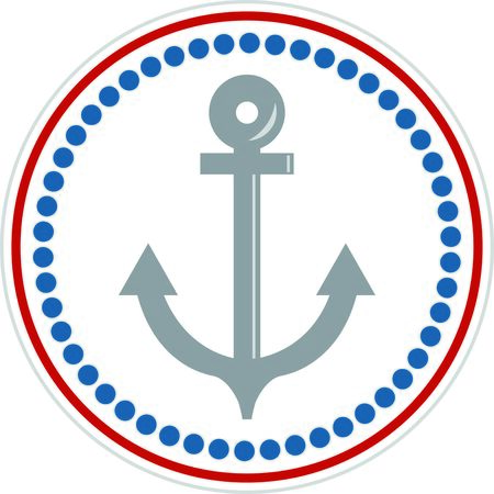 mooring: A perfect design for your sailor, boater or lover of all things nautical embroider on clothes, towels,  gear bags,  t-shirts, jackets or wall hangings.