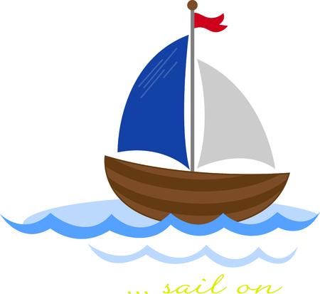 Un design parfait pour votre marin, plaisancier ou amoureux de tout ce qui est broderie nautique sur des vêtements, des serviettes, des sacs d'équipement, des t-shirts, des vestes ou des tentures murales. Banque d'images - 56505993
