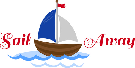nautical vessel: A perfect design for your sailor, boater or lover of all things nautical embroider on clothes, towels,  gear bags,  t-shirts, jackets or wall hangings.