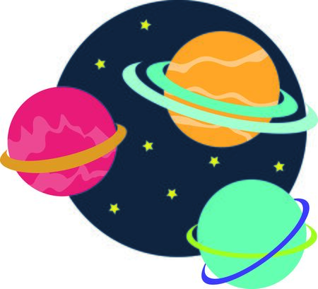 heavenly: Join the heavenly bodies on a celestial journey with design on t-shirts, hoodies, hats, warm-ups and more for your little astronauts!