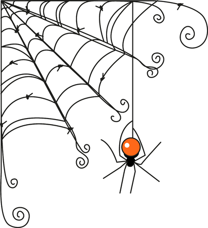 black widow: Create some simple Halloween magic with this design on t-shirts, hoodies, hats, warm-ups and more for the little ones!