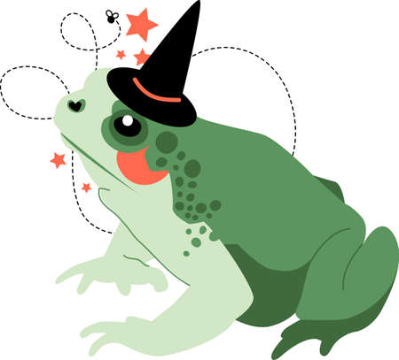 amphibian: Prepare to have a hauntingly delightful Halloween with this design on t-shirts, hoodies, hats, warm-ups and more for the little ones. Illustration