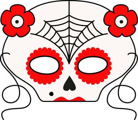 flower head: Dia de los Muertos  is a Mexican holiday symbolizing  the eternal cycle of life.  Enjoy and appreciate every moment of life with this design on framed embroidery, throw pillows and more.
