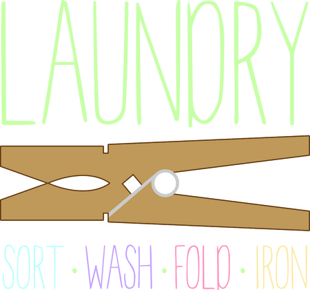Personalize your linen and make it easier to spot with this design on laundry bags, wall hangings for a laundromat or home projects.