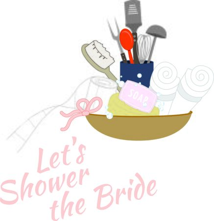 ladles: Turn this simple design into a style statement and add sparkle to bridal shower projects.