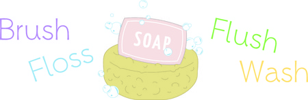 bath time: Have a splash. Make bath time fun for loved ones with this design on towels, framed embroidery and more. Illustration