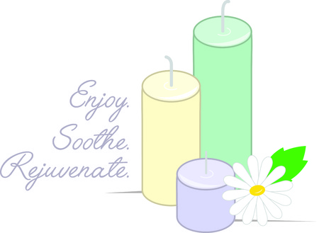 rejuvenate: Rejuvenate your body and mind with this relaxing design on framed embroidery, towels, aprons and more for your spa. Illustration