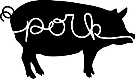 porker: Spice up your kitchen decor and chefs apparel with this design on kitchen linen, chef coats, apron and hats. Illustration