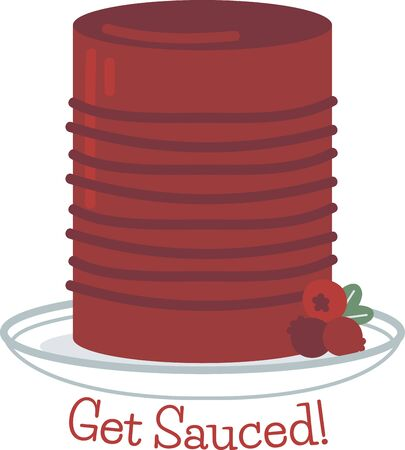 canned fruit: This colorful festive design is perfect on gifts, table runners, kitchen linens, home decor and on all things Thanksgiving! Illustration
