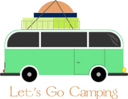 run out: Load up, head out and run you Camper through some adventure!  This design is perfect on projects for your outdoor lovers.