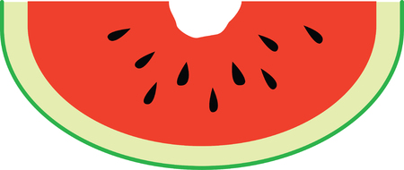 bites: Enjoy this classic summer road stand fruit with this design on table linens, kitchen mats, wall decor, wall plaques and more. Illustration