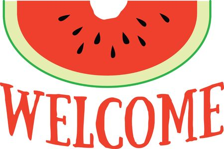 Enjoy this classic summer road stand fruit with this design on table linens, kitchen mats, wall decor, wall plaques and more. Ilustrace