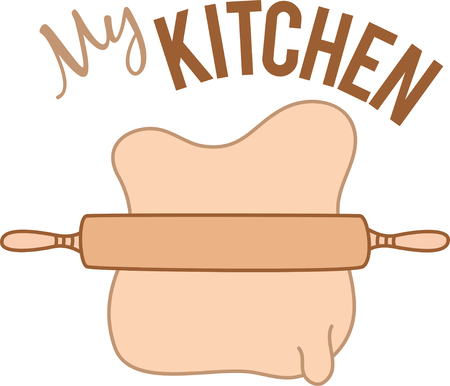whimsy: Add whimsy to a simple and heartfelt expression on kitchen linen, chef coats, apron, hats and more.