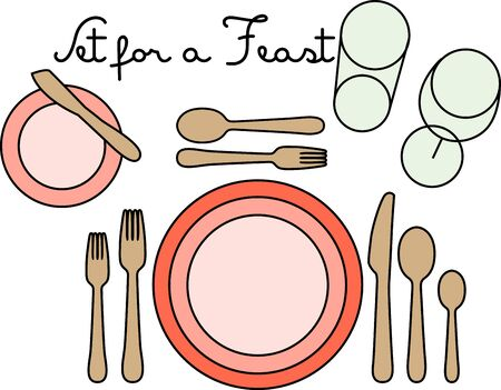 Make every meal seem like a little more fancier with this design on table mats, kitchen linen and more!