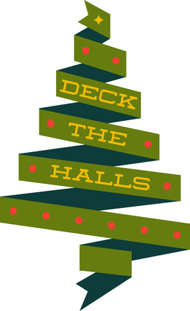 riband: Deck the halls and the rest of your home in Christmas cheer with this design on your holiday projects.
