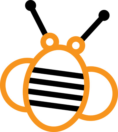 antennae: Looking for a way to brighten up for spring.  Wake your room up instantly with this eye-catching busy bee design.